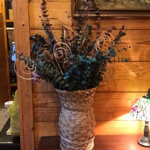 Other - Natural Dried Flower Arrangement with Basket
